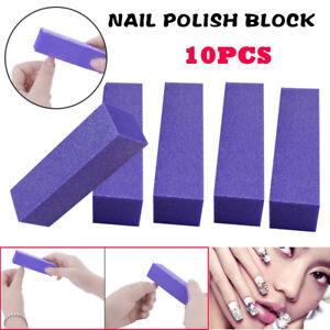 10pcs Nail Sanding Block Buffer Acrylic Files Art Sand Surface Pedicure Manicure