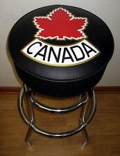 Canada Leaf Canadien Leaf Hockey Sign Bar Stool Stools