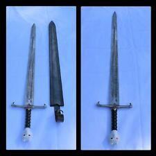 """48"""" Valyrian Steel Sword, Medieval Sword, Stainless Steel Sword GOT Blade"""
