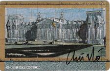 Christo Telefone Card original hand signed ;