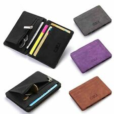 Wallet Leather Small Coin Card Key Ring Wallet Pouch Mini Purse Men K