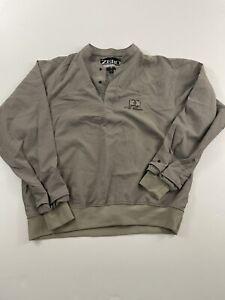 Zero Restriction Golf Outerwear Jacket Men's Medium Pullover Beige
