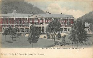 H48/ Hot Springs Virginia Postcard 1908 Front View Homestead Hotel 2