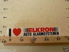 STICKER,DECAL ELKRON AUTO ALARMSYSTEMEN  LARGE