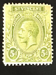 St Vincent stamp GV 5d green MH