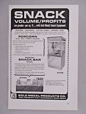 Gold Medal Snack Equipment PRINT AD - 1964 ~~ Movie Popcorn Machine