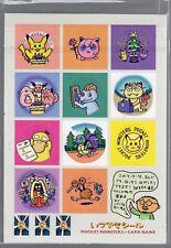1998 Pokemon Sticker set (came with birthday pikachu) NM Pokemon JAPANESE