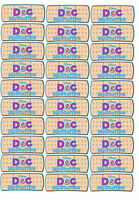 30 Doc McStuffins Stickers Party Bandaid Labels Band Aid Birthday CUT & PEEL