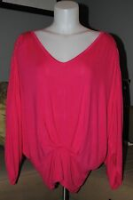 Women's One A Pink Posey V Neck Bat Wing Sleeve Top - Size M - MSRP $58