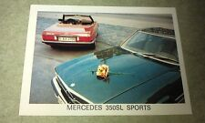 1972 MERCEDES BENZ 350SL Sports  - WEETBIX New Zealand  Swap Card
