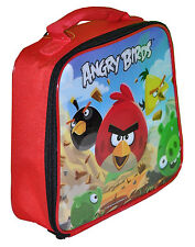 Angry Birds Kids School Insulated Cooler Snack Tote Lunch Bag Box NWT