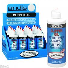 Andis  CLIPPER, TRIMMER  OIL, 1-CASE OF 12-4OZ.  BOTTLES , LUBRICATE BLADES