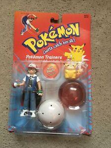 Pokemon Hasbro Pokemon Trainers Figures Ash And Pikachu Vintage 2000 Rare Sealed