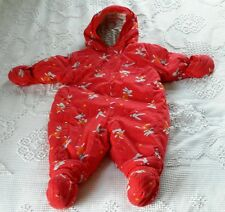 Boutique Marese Quilted Puffer Winter Snowsuit Boys Girls 74 12M Bunnies Booties