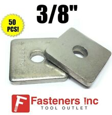 """(4601S1) P1063 3/8"""" Stainless Steel Square Washers for Unistrut Channel (50 BOX)"""