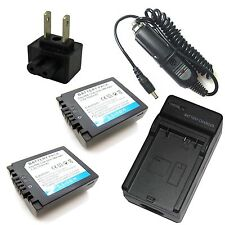 Charger + 2x 7.2v Battery for Panasonic Lumix DMC-FZ7 DMC-FZ8 DMC-FZ18 DMC-FZ28