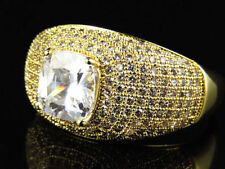 Anillos de bisutería de piedra de oro amarillo