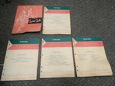 1955 Vintage Singer Sewing Machine Skills Reference Book + 4 Student Manuals