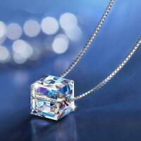 Square Block Necklaces&Pendant Accessories Women Geometric Jewelry Necklace Drop