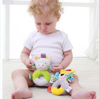 Cartoon Baby Plush Handbells Squeeze Rattle Sound Toy Infant Developmental Gifts