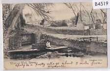 B4519cgt UK Upwey Wishing Well Valentines c1905 vintage postcard