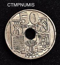 ESPAGNE   50 CENTIMOS  FLECHES VERS LE BAS  1949 (51)   rare