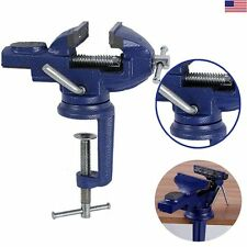 """MINI VISE BENCH SWIVEL With CLAMP FOR WORKBENCH 2.5"""" SMOOTH JAWS REVOLVING VISE"""