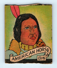 #814 Chief AMERICAN HORSE Vintage 1930's R131 WESTERN SERIES Trading Card