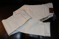 Abercrombie&Fitch Selvedge Men's Slim Straight Stretch Jeans Cream NEW 34x34