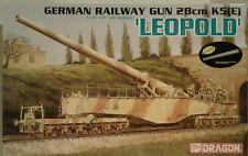Dragon Models 1/35 scale kit 6200, German LEOPOLD 28cm Railway gun.