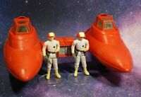 VINTAGE STAR WARS COMPLETE TWIN POD CLOUD CAR + PILOT ACTION FIGURES KENNER