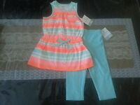 Carters Two PIece Outfit Tunic with Leggings Size 4T Super Cute