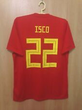 SPAIN NATIONAL TEAM 2017/2018 HOME FOOTBALL SHIRT JERSEY ISCO ALARCON #22