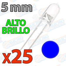 25x LED 5mm AZUL Alto Ultra Brillo ultrabright 20mA diodo diode blue