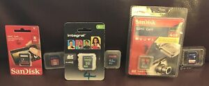 Small Bundle of Mixed 6 x Memory Cards 4 GB 8 GB