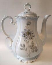 Edelstein Bavaria Maria Theresia Large Coffee Tea Pot Germany Blue Silver Flower