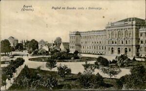 IMV00519 zagreb croatia pogled na sovsku costu i gimnaziju school