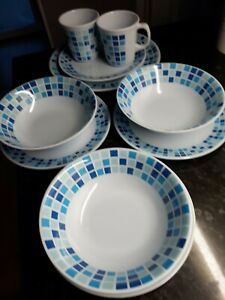 Camping Tableware. Melamine Plates, Cups, Bowls.