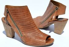 Paul Green Cayanne Cuoio Leather Peep Toe Sandals Size AU 8 / US 10.5