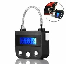Electronic Timer Lock For Ankle Handcuffs Mouth Gag USB Rechargeable Black
