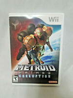 Metroid Prime 3 Corruption (Nintendo Wii 2007) Complete With Manual VGC