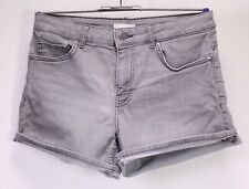 T54-14 H&M High Waist Jeans Hot Pants Shorts Stretch Denim grau Gr. 36