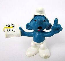 Vtg 1980 Smurfs Peyo TEACHER BOOK Smurf 20059 Schleich HK PVC Figurine Toy Figur