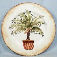 American Atelier Tropical Palm Salad Plate Porcelain 5185 # 3 At Home Dinnerware