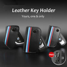 Geniue Leather Car Key Holder Wallet Case Cover For BMW X3 X4 X5 X6 3 5 7 Series