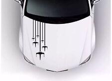 "1 ROGUE SQUADRON X-WING Star Wars Hood Stripes Car Vinyl 32"" Long Sticker Decal"