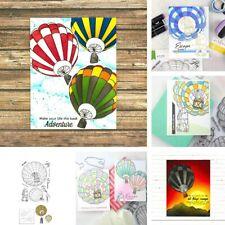 Hot Air Balloon Hug Metal Cutting Dies Stamps Stencil Scrapbook Card Making