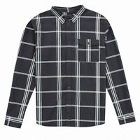 Lost Mens Shirt Honeydew Black Size XL Button Down Check Plaid Flannel $50 059