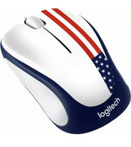 Logitech M317c Wireless Optical Mouse - *American Flag*  *NEW*