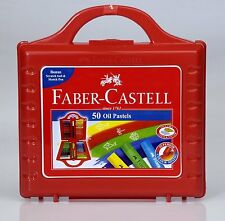 Faber-castell Oil Pastels Set of 50 Easy to Pack and Carry Colour Tool Box F S